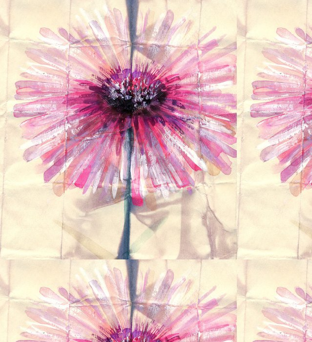Tapeta Pixerstick Akvarelu. Abstraktní růžový květ - Umění a tvorba