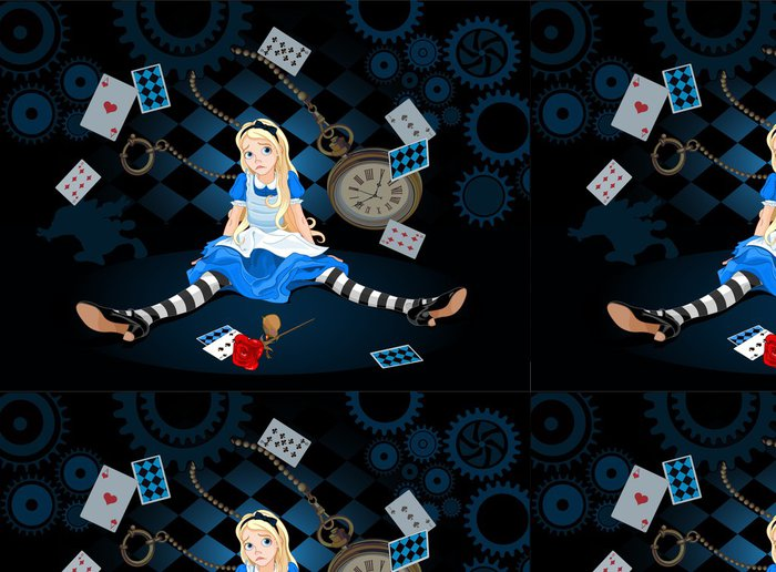 Tapeta Pixerstick Alice in překvapením - Osud