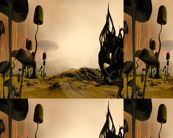 Vinylová Tapeta Alien misty pouštní krajina - Čas