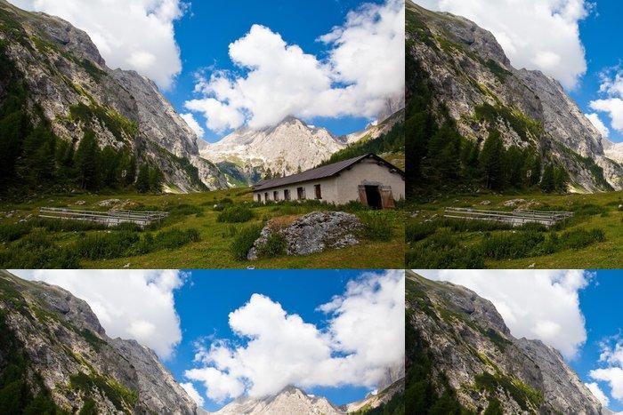 Tapeta Pixerstick Alpejska łąka - Prázdniny