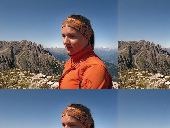 Vinylová Tapeta Alpinistin - Individuální sporty