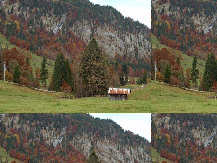 Tapeta Pixerstick Alpy v Německu v blízkosti obce Oberstdorfu na podzim - Prázdniny