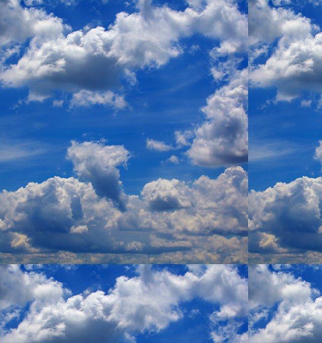 Tapeta Pixerstick Amazing modrá obloha pozadí s malými mraky - Nebe