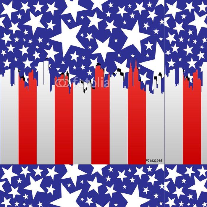 Vinylová Tapeta American panoráma města - Americká města