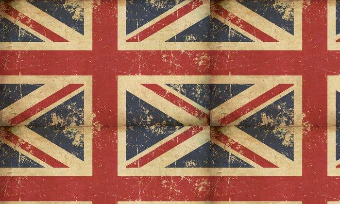 Vinylová Tapeta Americká občanská válka unie -37 hvězda Medailon-Starý papír - Témata