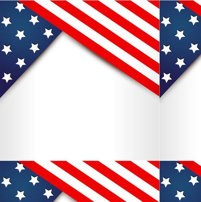 Tapeta Pixerstick Americká vlajka design - Pozadí