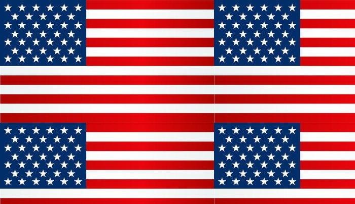 Tapeta Pixerstick Americká vlajka - Americká města