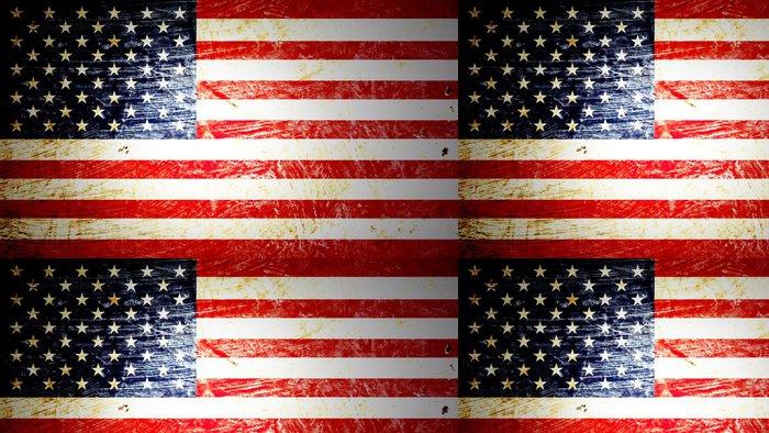 Tapeta Pixerstick Americká vlajka - Témata