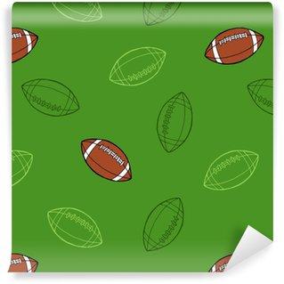 Vinylová Tapeta Americký fotbal sportovní míč grafické umění bezešvé vzor ilustrace vektor