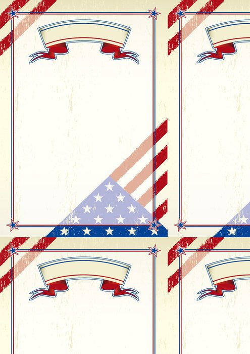 Tapeta Pixerstick Americký poškrábaný písmeno - Amerika