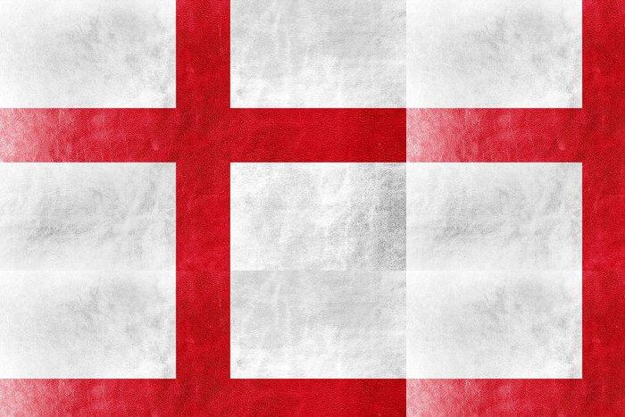 Tapeta Pixerstick Anglie vlajka namaloval na kožené textury -