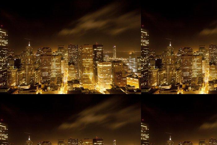 Tapeta Pixerstick Antény San Francisco v noci - Americká města