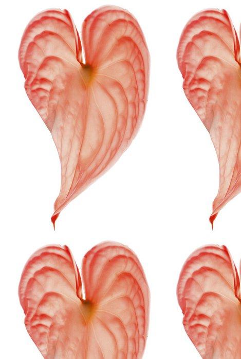 Tapeta Pixerstick Anthurium Heart červená flamme - Štěstí