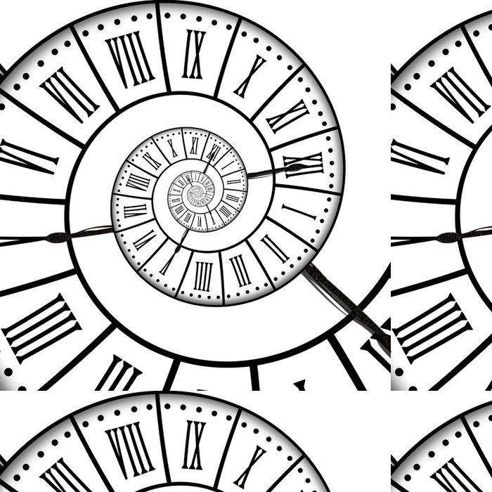 Tapeta Pixerstick Antique hodiny, spirála - Hodiny