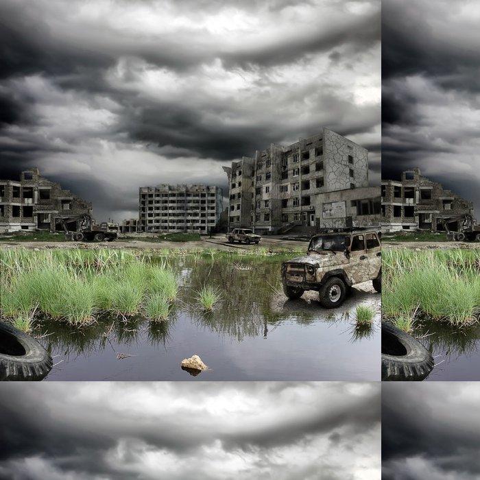 Tapeta Pixerstick Apokalyptický krajina - Bezdomovectví