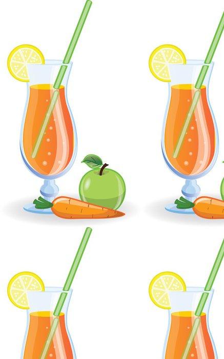 Tapeta Pixerstick Apple a mrkev koktejly vzor vektoru - Jídla