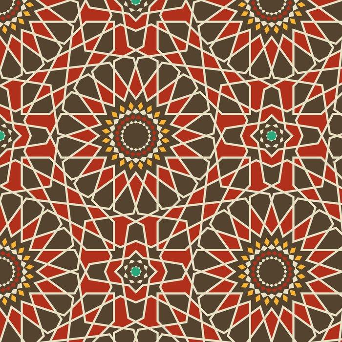 Tapeta Pixerstick Arabesque bezešvé vzor v červené a hnědé - Pozadí