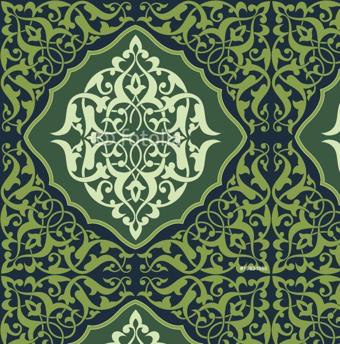 Tapeta Pixerstick Arabesque dlaždice Green 2 - Střední Východ
