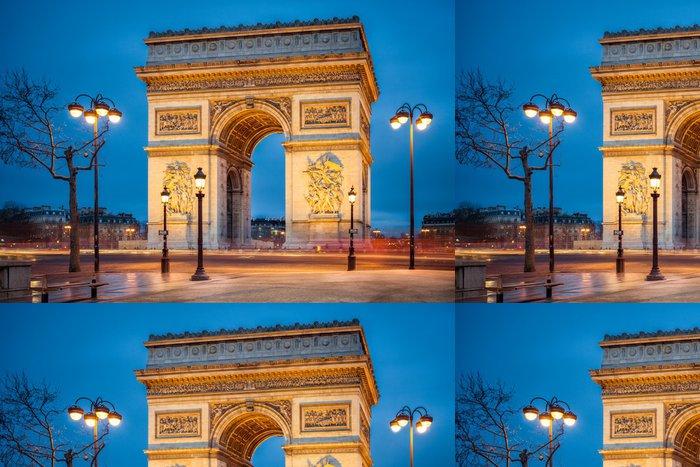 Tapeta Pixerstick Arc de Triоmphе v Paříži - Evropská města