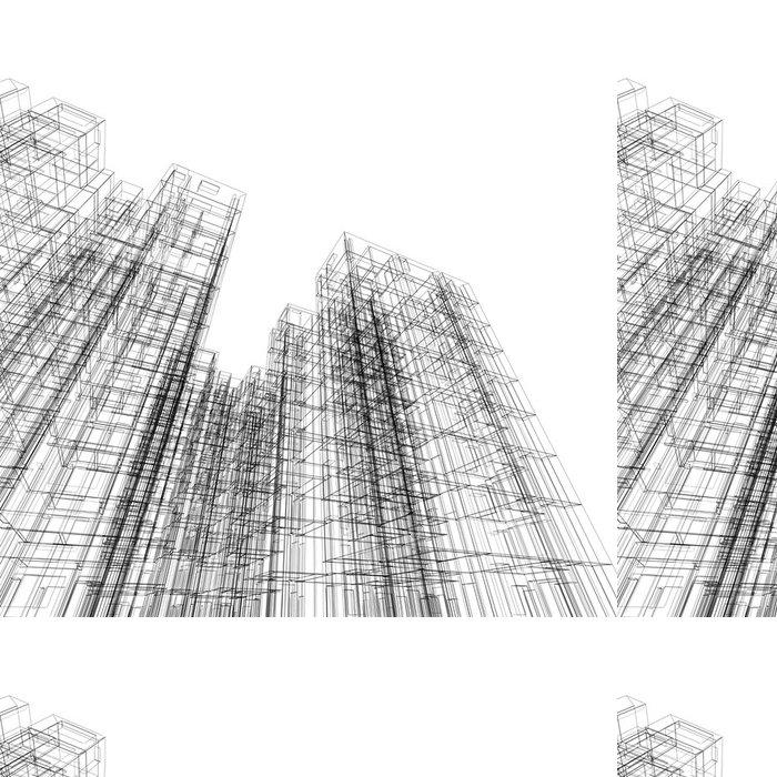 Tapeta Pixerstick Architektura abstraktní - Soukromé budovy