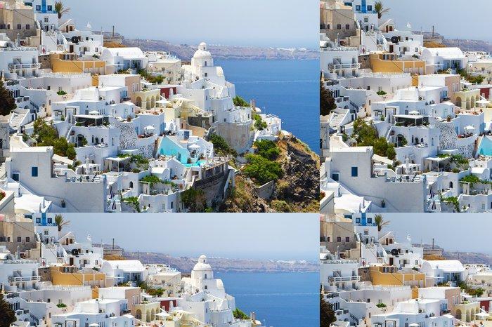 Vinylová Tapeta Architektura města Fira na ostrově Santorini, Řecko - Evropa