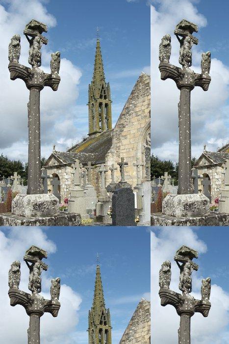 Tapeta Pixerstick Argol kostel a křížová cesta - Brittany - Veřejné budovy