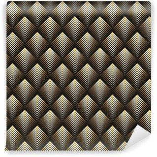 Vinylová Tapeta Art deco stylu bezešvé vzorek zlatá textura