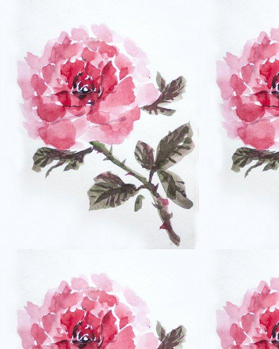 Tapeta Pixerstick Asain růže akvarel - Umění a tvorba