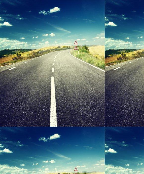 Tapeta Pixerstick Asfaltové silnici v Toskánsku Itálie - Témata