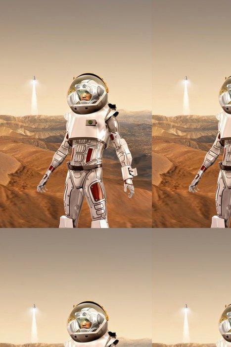 Tapeta Pixerstick Astronaut na Marsu - Meziplanetární prostor