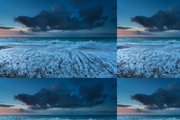 Tapeta Pixerstick Atlantském oceánu vlny při západu slunce - Nebe