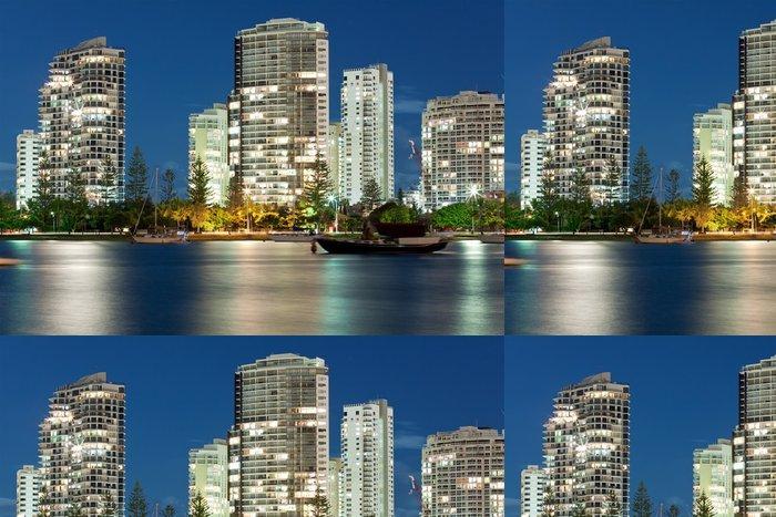 Tapeta Pixerstick Australský moderní město v noci (Miami Beach, Gold Coast) - Témata