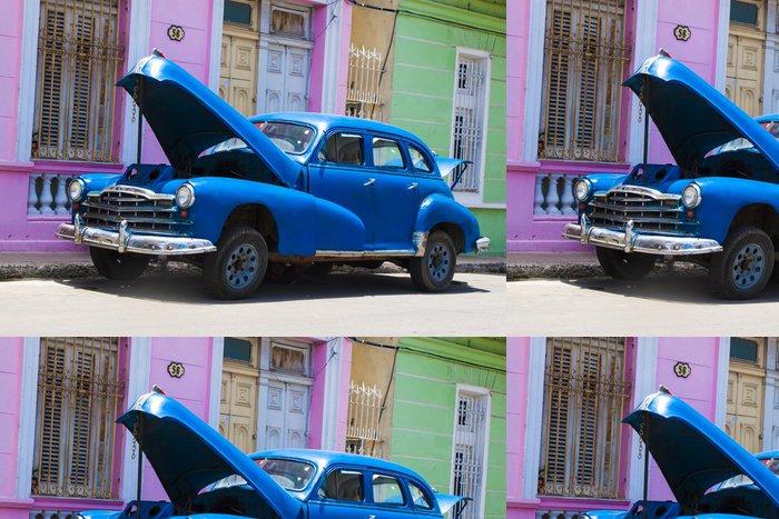 Vinylová Tapeta Auto azul - Témata