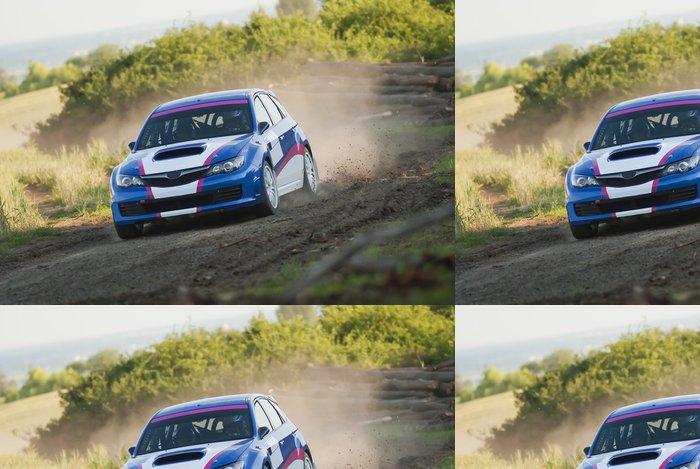Vinylová Tapeta Auto rally v akci - štěrk - Extrémní sporty