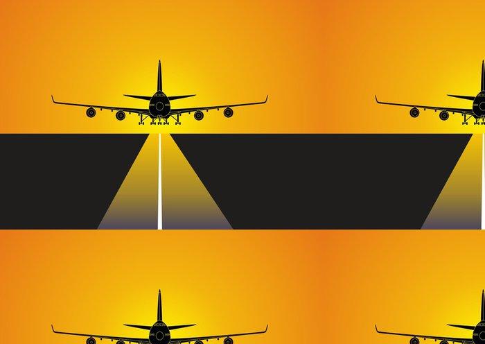 Tapeta Pixerstick Avion aterrizando en el aeropuerto - Témata