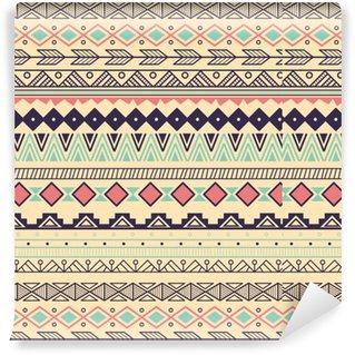 Vinylová Tapeta Aztécký kmenový vzor v pruzích