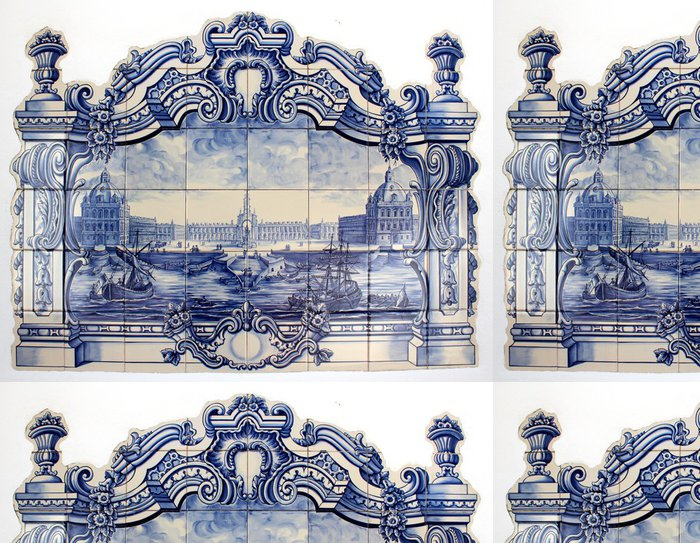 """Tapeta Pixerstick """"Azulejo"""" portugalské tradiční ručně malované umění dlaždice - iStaging"""