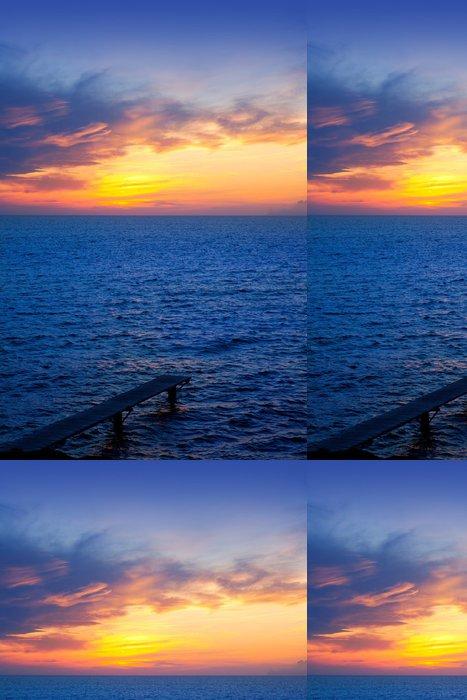 Vinylová Tapeta Baleárské Formentera ostrov západ slunce v Středozemním moři - Prázdniny