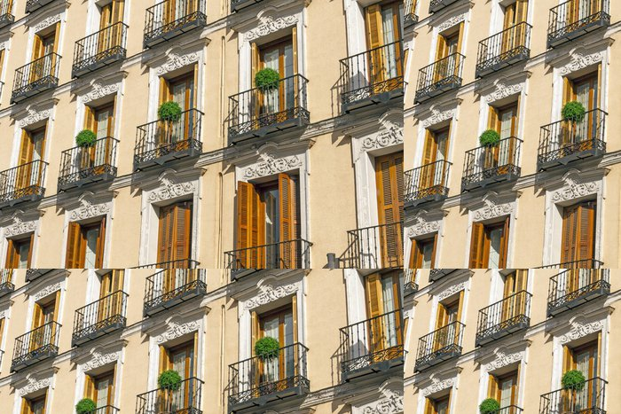 Tapeta Pixerstick Balkon Madrid - Evropská města