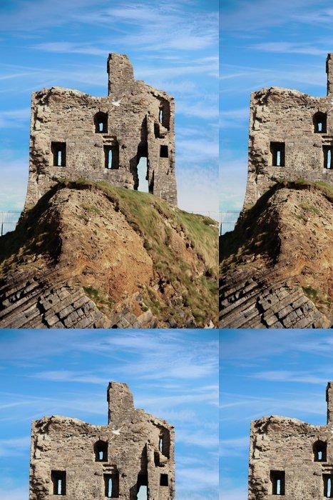 Tapeta Pixerstick Ballybunion Zřícenina hradu na krásné skalní stěny - Evropa