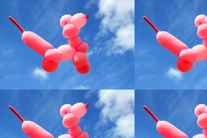 Tapeta Pixerstick Balón s pudl psí caniche tvaru létat modrou oblohu - Nebe