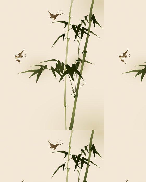 Tapeta Pixerstick Bambusové větve, vectorized orientální styl malování - Témata