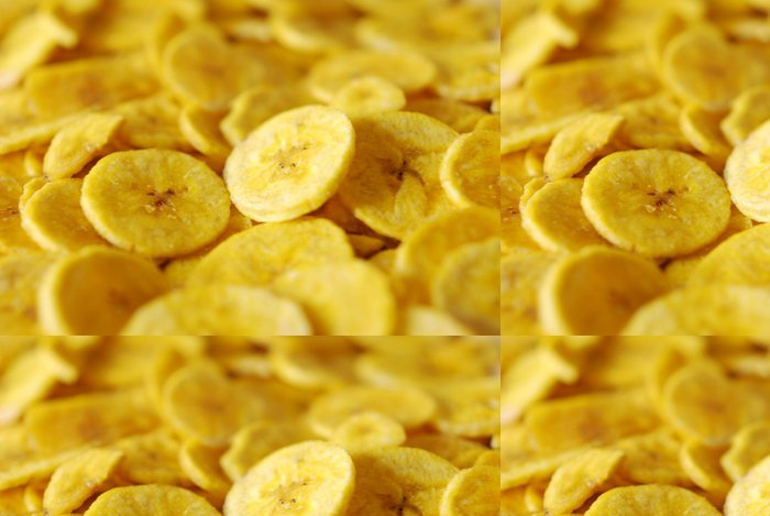 Tapeta Pixerstick Banánové chipsy - Jídla