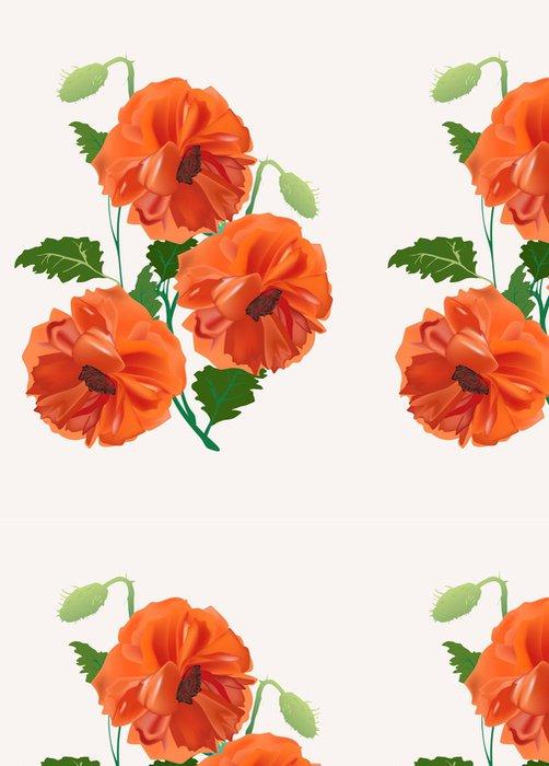 Tapeta Pixerstick Banda tři červené květy máku - Květiny