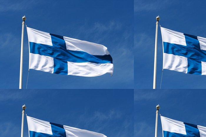 Tapeta Pixerstick Bandiera, Finsko - Evropa