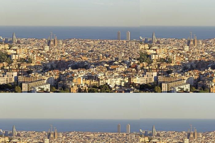 Tapeta Pixerstick Barcelona skyline - Témata