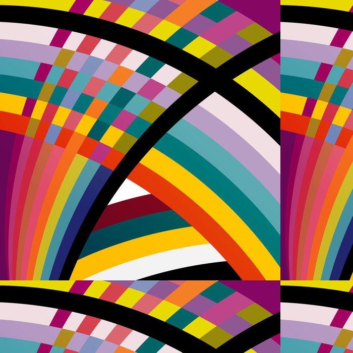 Tapeta Pixerstick Barevné abstraktní geometrické pozadí, ilustrace - Abstraktní