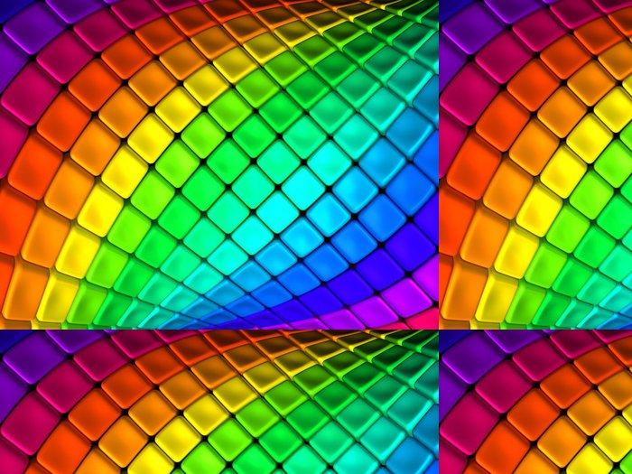 Tapeta Pixerstick Barevné abstraktní krychle pozadí 3d ilustrace - Umění a tvorba