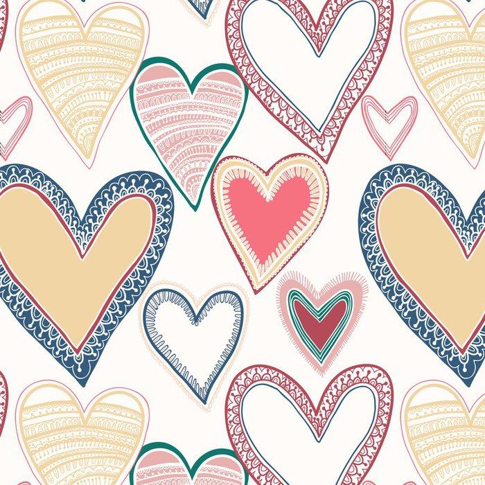 Tapeta Pixerstick Barevné bezešvé srdce vzorek - Pozadí