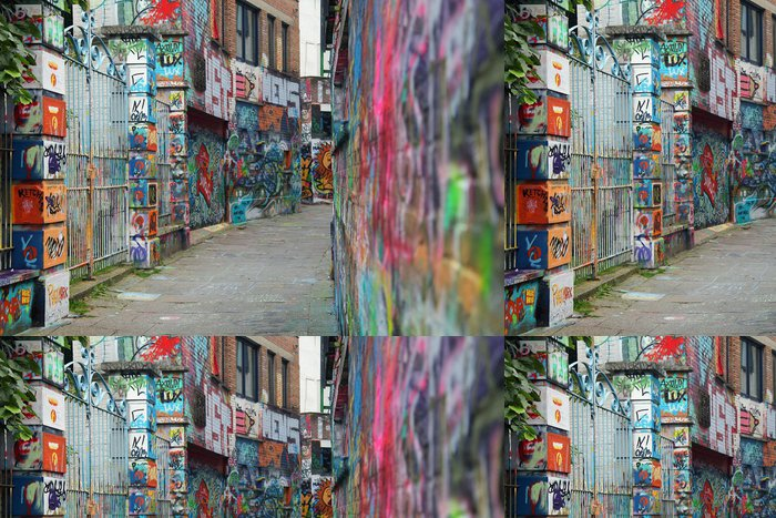 Tapeta Pixerstick Barevné graffiti - Evropa